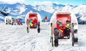 Coca Cola Ski Cabins